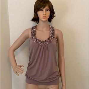 Beautiful pearl embellished Body Central top